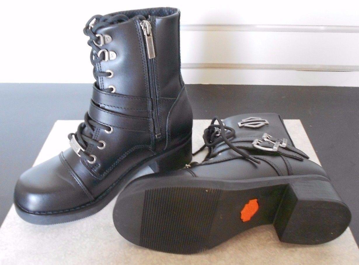 Harley davidson para mujer Melinda Melinda Melinda de cuero negro bota de corte medio D83737  descuento de ventas