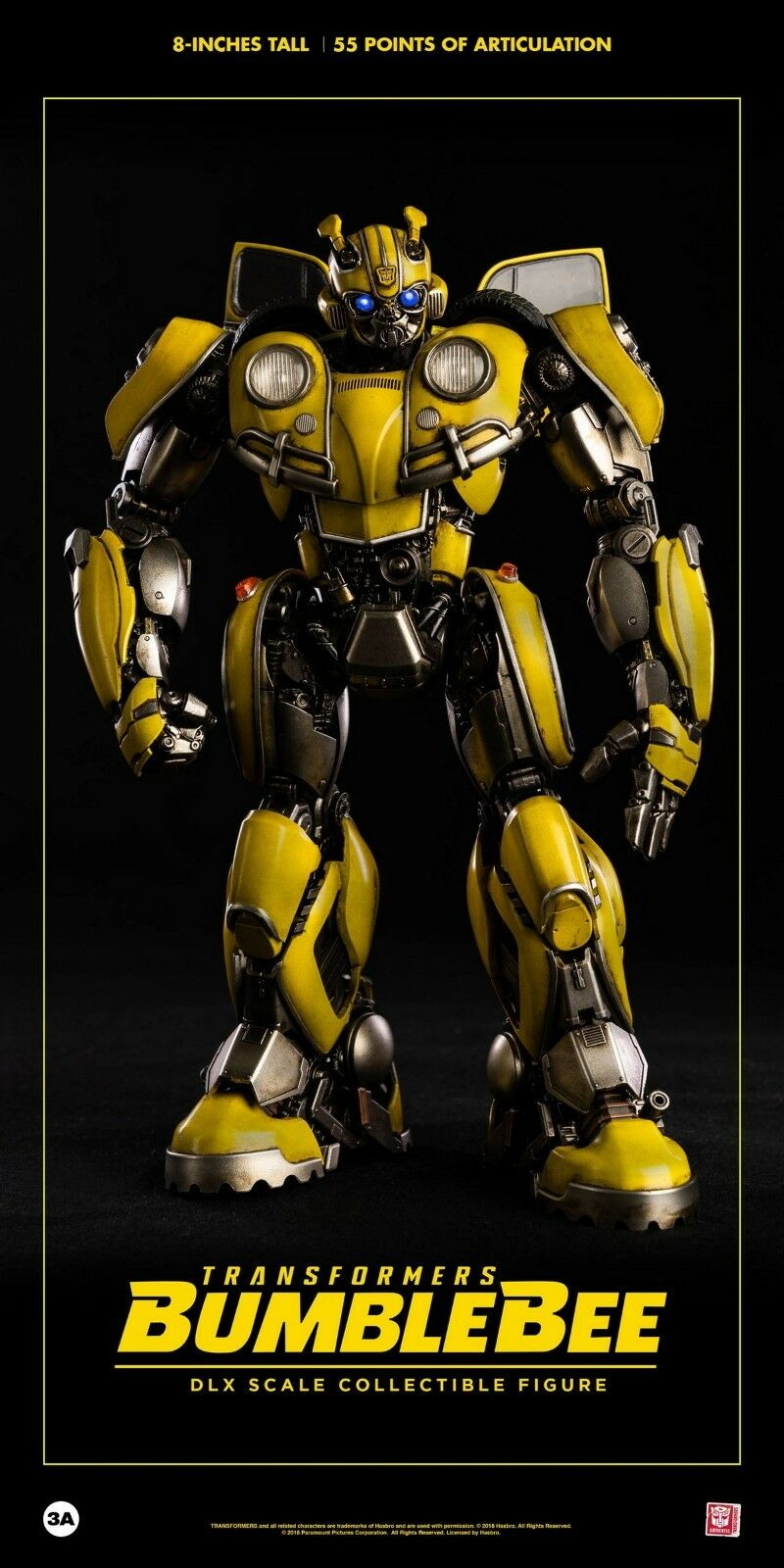 ThreeA Hasbro x 3A Transformers BUMBLEBEE Scale 8  Action Figure Toys PreSale