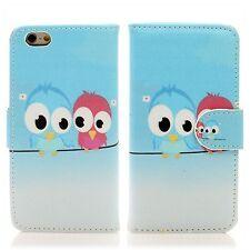 Apple iPhone 6 (4'7) Flip Tasche Handy Case Schutz Hülle Etui Zwei Eule Owl