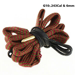 6mm-243Cal-Boresnake-Rifle-Gun-Cleaning-Kit-Airsoft-Tactical-Hunting-Clean-Rope