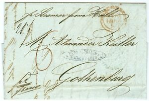 SWEDEN/GREAT BRITAIN: Cover from Manchester to Gothenburg 1855.