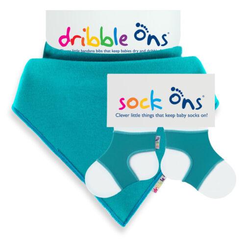 Baby Sock Ons 6-12 Monate Keepers /& Dribble Bandana Lätzchen Set value Packung