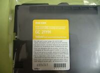 Genuine Ricoh Gc21yh Yellow High Yield Gel Print Cartridge 405539