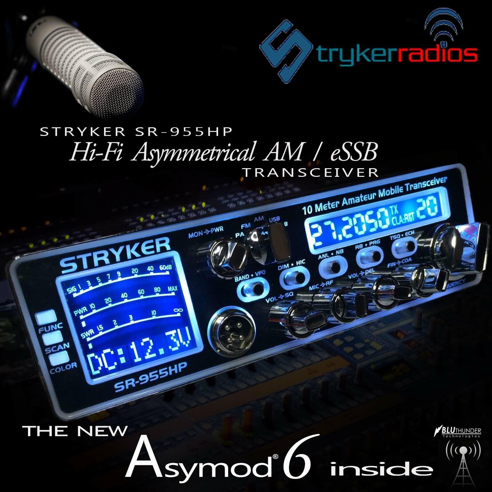 STRYKER SR-955HP & THE NEW ASYMOD 6 ASYMMETRICAL Hi-Fi AM MODULATOR + eSSB. Buy it now for 785.00
