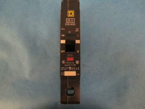 Square D EDB14020 20A 1-Pole 277V Circuit Breakers *Set Of 2* NEW!!