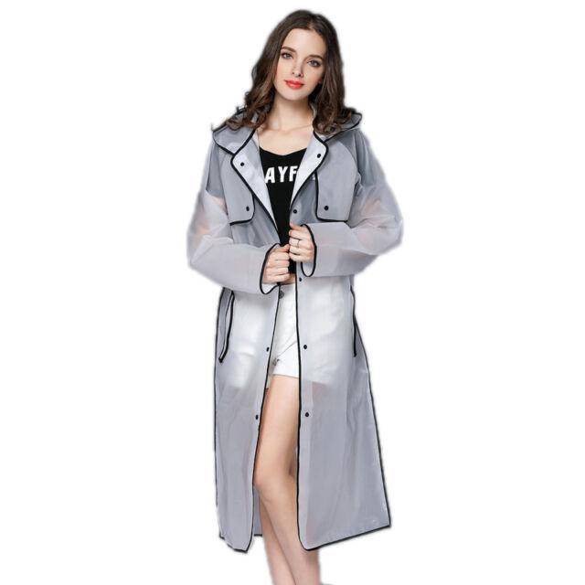 Qian Waterproof Girls Raincoat Plastic, Pink Plastic Trench Coat