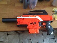 3D Printed  Carbon Fiber Silencer Barrel Fits Nerf Stryfe Gun(not the gun)