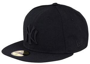 Caricamento dell immagine in corso NEW-Era-New-York-Yankees-Cap-Black-on- aef77d56334d