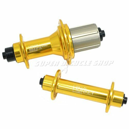 Circus Monkey HRW Road Hubs, 32 Hole,1 Pair, Gold