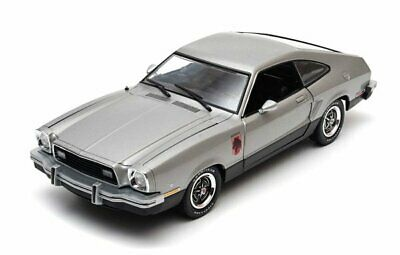 1976 Ford Mustang II Stallion Gris 1:18 Greenlight Collectibles 12890