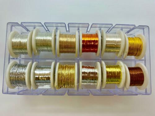 Fly Tying Fly Dressing Fly Fishing 12x Spools of Tinsel Shiny Colours