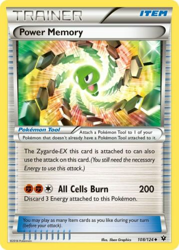 Fates Collide Set Power Memory 108//124 Uncommon Pokemon Card - NM 2016