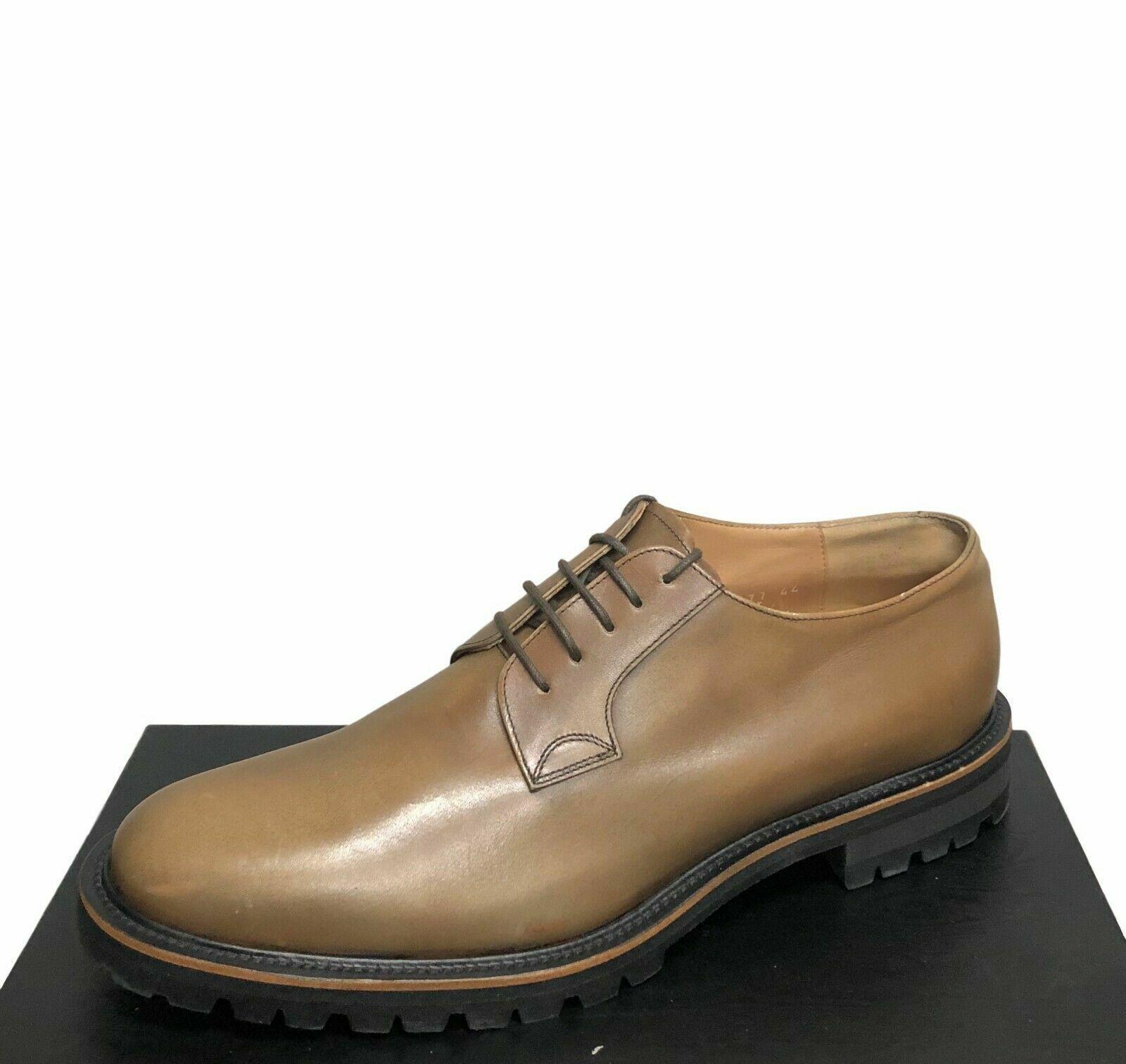 695 Dries Van Noten Cognac Brown New Men's bluechers shoes Size 9.5   42.5