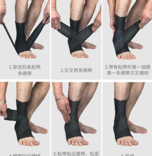 Sports Ankle Support Brace Sprain Strap Stabiliser Guard Pad Sock Foot Pain