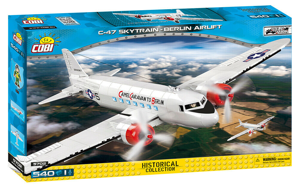 COBI C-47 Skytrain - Berlin Airlift Cargo Plane SET  5702 (540 Pcs.) US SELLER