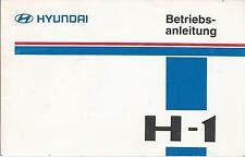 HYUNDAI   H1   H-1  Betriebsanleitung  1999    Bordbuch  Bedienungsanleitung  BA