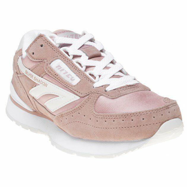 New WOMENS HI-TEC PINK HTS SHADOW RGS SUEDE Sneakers CHUNKY SNEAKERS