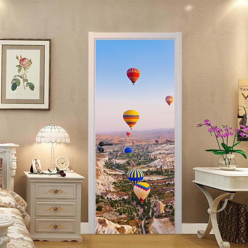 3D 3D 3D Heißluftballon 9 Tür Wandmalerei Wandaufkleber Aufkleber AJ WALLPAPER DE Kyra | Neues Design  | Moderne und stilvolle Mode  |  1dfae3