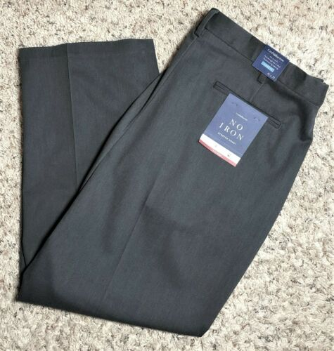 Men/'s Croft /& Barrow No Iron Stretch Khaki Classic-Fit Flat-Front Pants NWT
