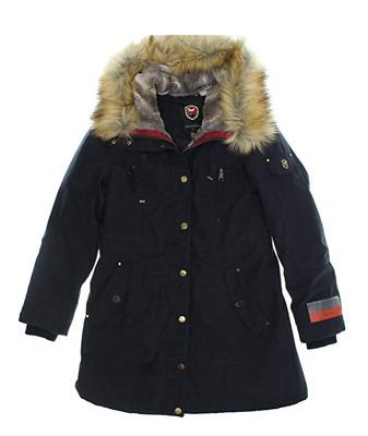 1 Madison Expedition Ladies/' Anorak Jacket Faux Fur Hood New Stone