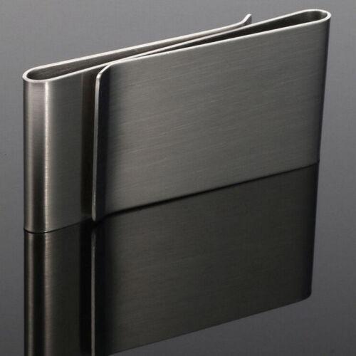 Trendy Stainless Steel//Silver Metal Credit Card Money Clip Pocket Holder Wallet