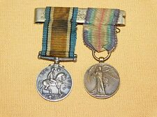 VINTAGE  WW1 WWI 1914-1919 THE GREAT WAR FOR CIVILISATION COIN RIBBON MEDAL PIN