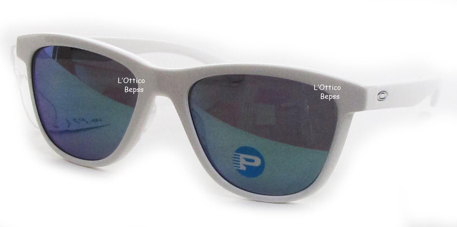 17f419e20e Oakley OO 9320 9320 06 Polished White Frame Jade Iridium Polarized ...
