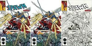 SPAWN-299-Set-Regular-Virgin-B-amp-W-Variant-Cover-Amazing-Spiderman-homage