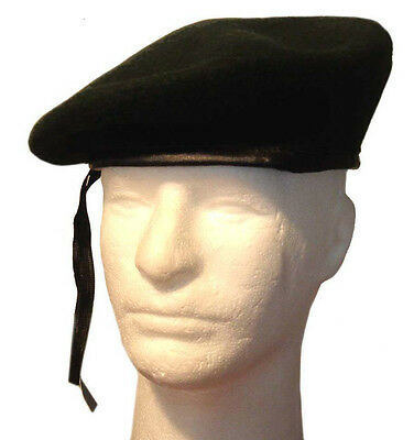 French Wool Monty Military GI Beret Cap Hat with Adjustable Strap