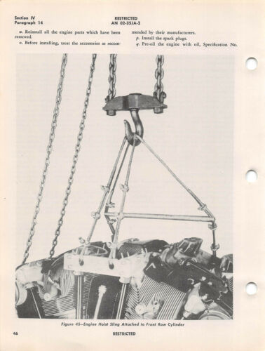 -41 Aircraft Radial Engine Service Inst/'s Flight Manual -23 R-3350-18 cd