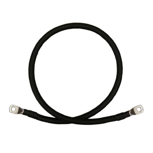 """30/"""" Switch Starter Cable Car  Lead Negative Black Battery Earth Strap 760mm"""