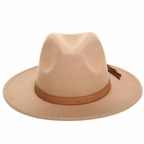 Fedora Hat Classical Wide Brim Gangster Cap Men Women Vintage Trilby Panama Hats