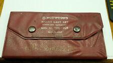 Vintage Mitutoyo Radius Gage Set 186 901 Made In Japan