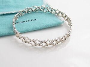 bc7faf9c4 Tiffany & Co RARE Silver Picasso Loving Heart Bangle Bracelet | eBay
