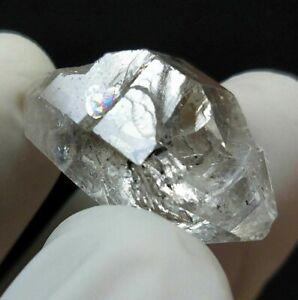 Natural Terminated Himalayan Herkimer Diamond Quartz with Rainbow, US Seller