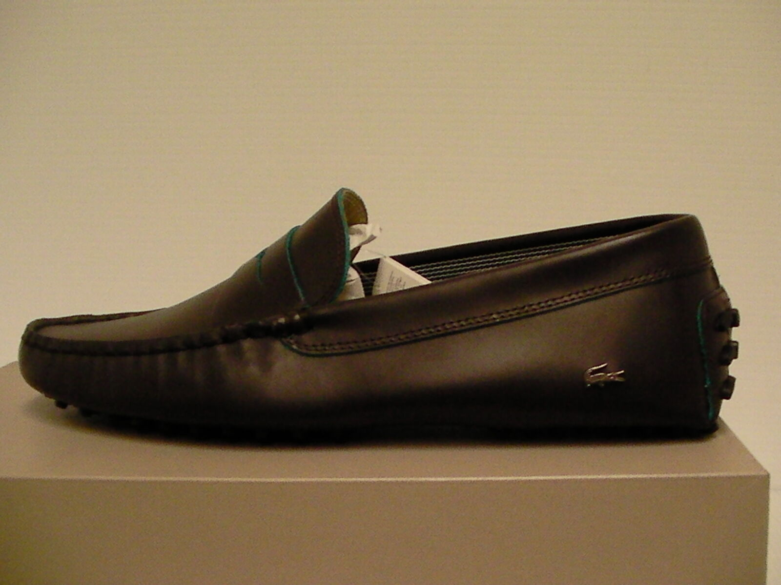 Lacoste casual shoes concours 10 spm leather dark brown size 11 us men