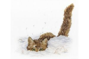 Cross-Stitch-Kit-Cat-in-the-Snow-NV-557