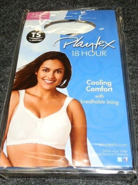 24c6ea5d84 New Womens 38DDD Playtex 18 Hour bra White Cooling Comfort Lace 408T 4088