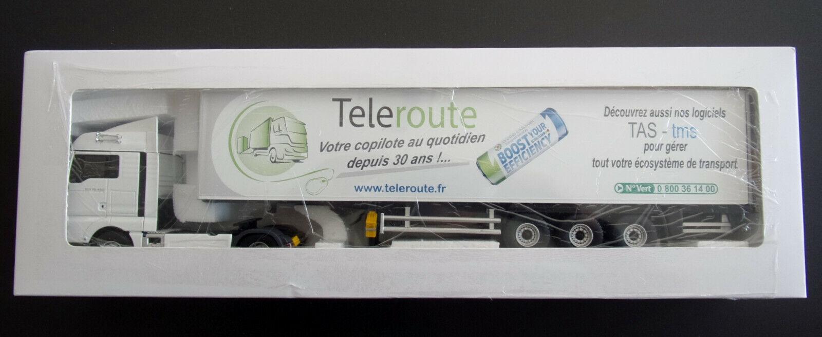 Rare ELIGOR Camion MAN TGX EURO 6 XLX SEMI  TELEROUTE  Ref  115445 1 43