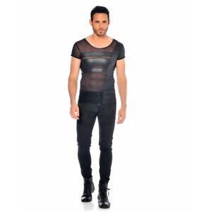 Patrice-Catanzaro-Benjen-T-Shirt-sexy-en-micro-resille-et-wetlook-laque