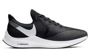 Men-039-s-Nike-Air-Zoom-Winflo-6-Running-Shoes-Black-White-Dark-Grey-Size-10-NEW