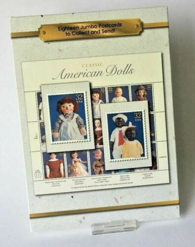 """CLASSIC AMERICAN DOLLS 18 JUMBO POSTCARDS INCLUDES /""""ALABAMA BABY/"""" FROM USPS 1997"""