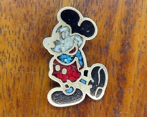 Vintage-silver-DISNEY-MICKEY-MOUSE-NATIVE-AMERICAN-INDIAN-TURQUOISE-charm