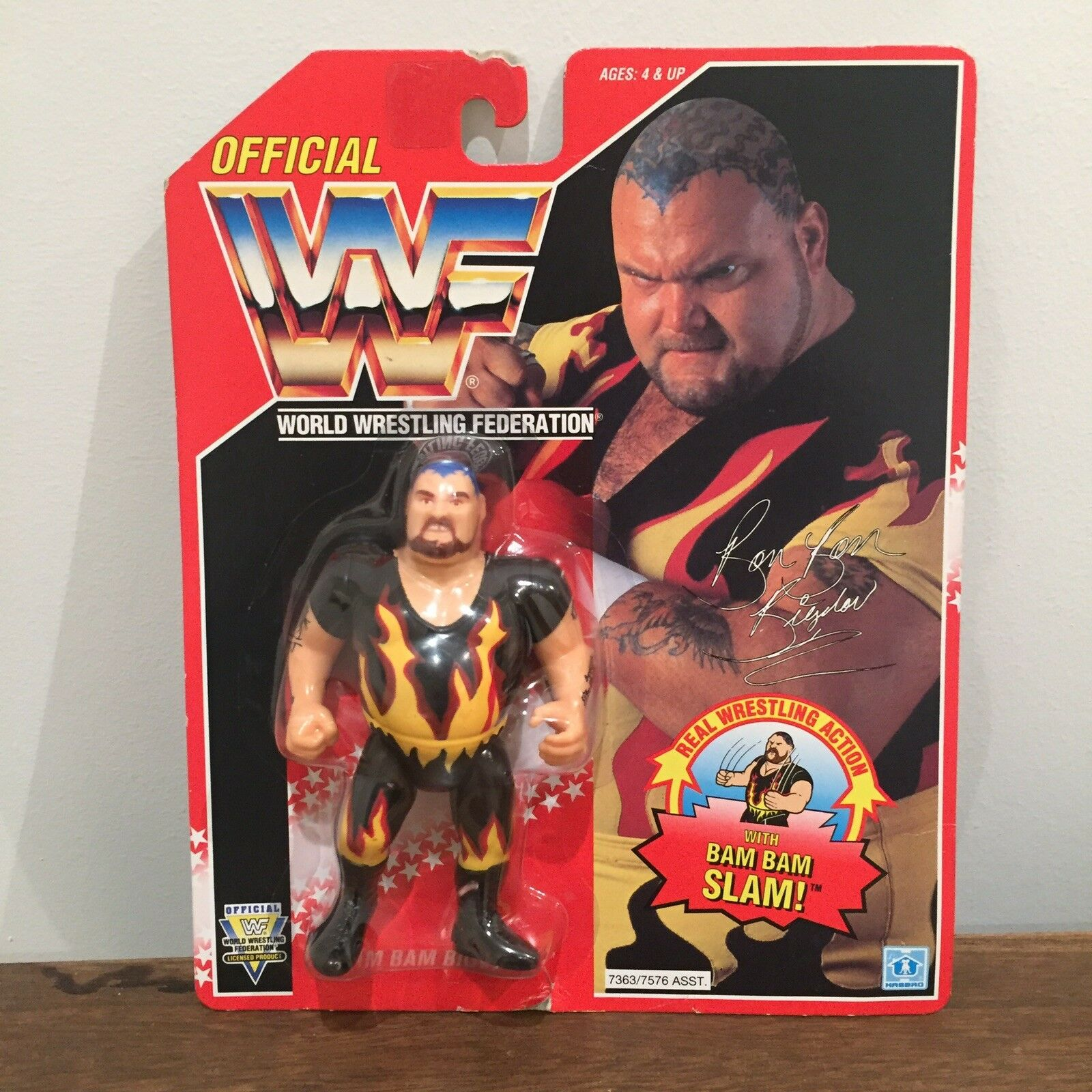 WWF/WWE BAM BAM BIGELOW Vintage Hasbro Action Figure 1994 SERIE 8 MOC