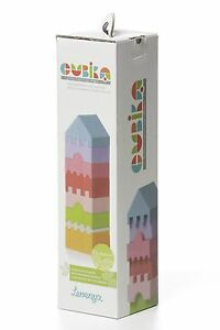 Wise Elk Wooden toy Puzzle tower for kids. 8 colorful blocks different shapes