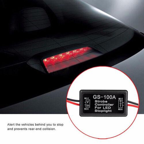 Vehicle Car GS-100A LED Brake Stop Light Strobe Flash Module Controller Box UUMW