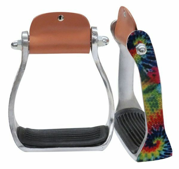Showman Shimmering Tie Dye Print Light Weight  Aluminum Western Stirrups  luxury brand