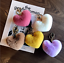 Heart Shape Pom Pom Rabbit Fur Ball Car Key Chain Women/'s Bag Decor NEW HOT A++