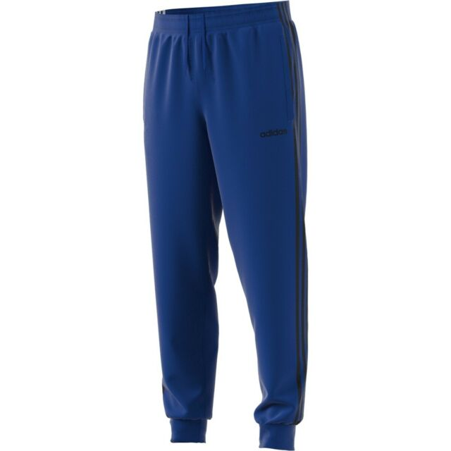 adidas Essential 3-Stripes Tapered Tricot Pants-Men's Casual - Royal