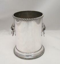 A Good Old Sheffield Plated Bottle Coaster / Wine Cooler - c1830 - Lion Handles